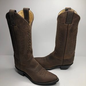 Justin L4934 Brown Leather Cowboy Western Boots
